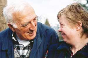Jean Vanier and Gwenda, l'Arche