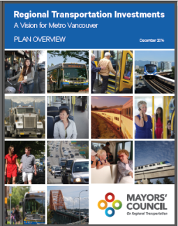 mayors' plan for regional transportation investments